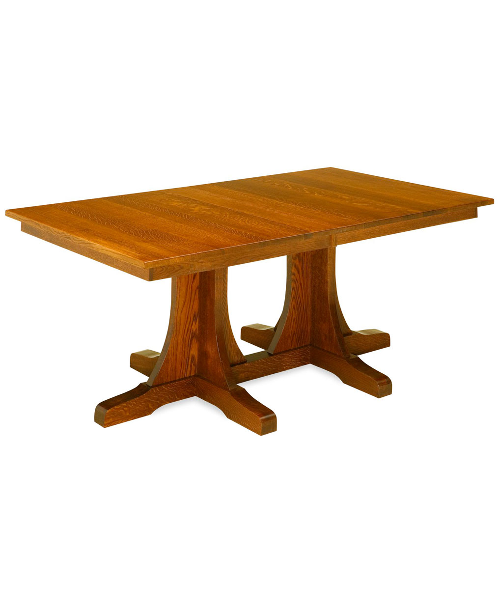 Double Pedestal Mission Dining Table Amish Direct Furniture
