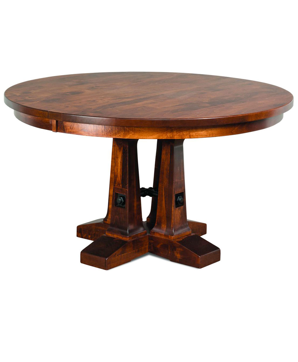 Vienna round dining table amish direct furniture for Round dining table