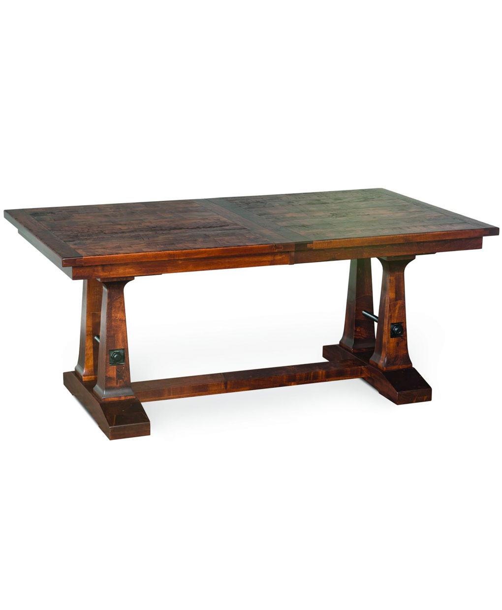 Vienna trestle dining table amish direct furniture Trestle dining table