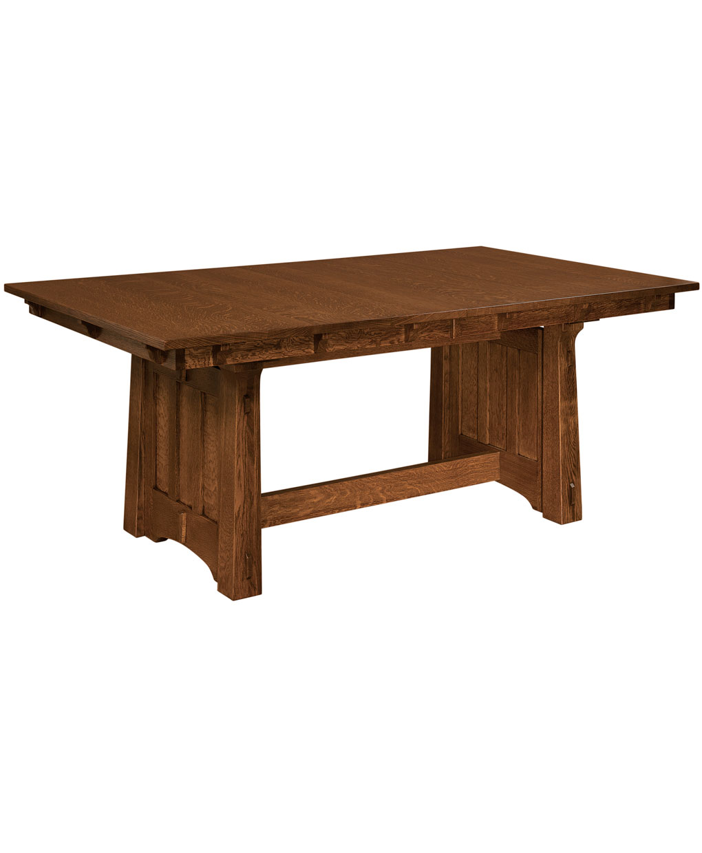 Beaumont trestle dining table amish direct furniture Trestle dining table