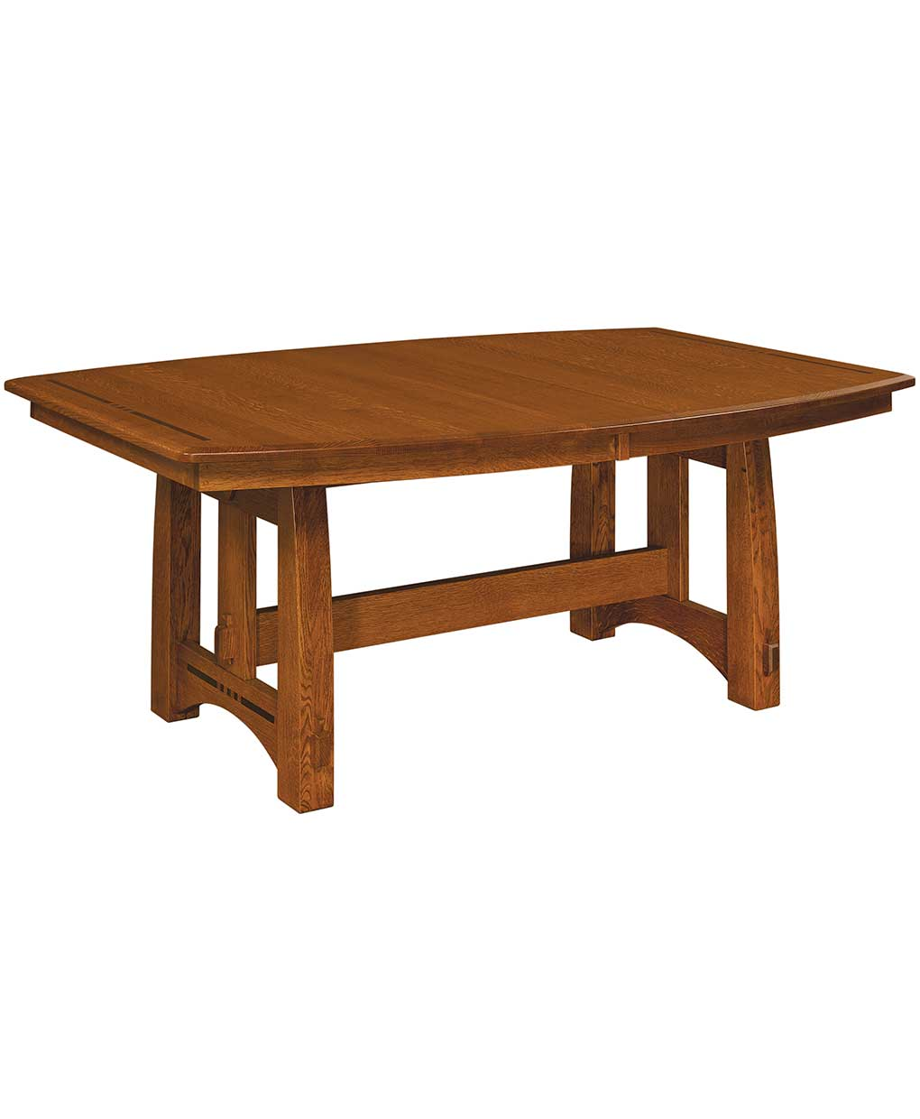 Colebrook trestle dining table amish direct furniture Trestle dining table