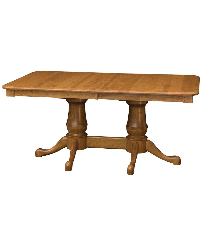 estate double pedestal table amish direct furniture. Black Bedroom Furniture Sets. Home Design Ideas