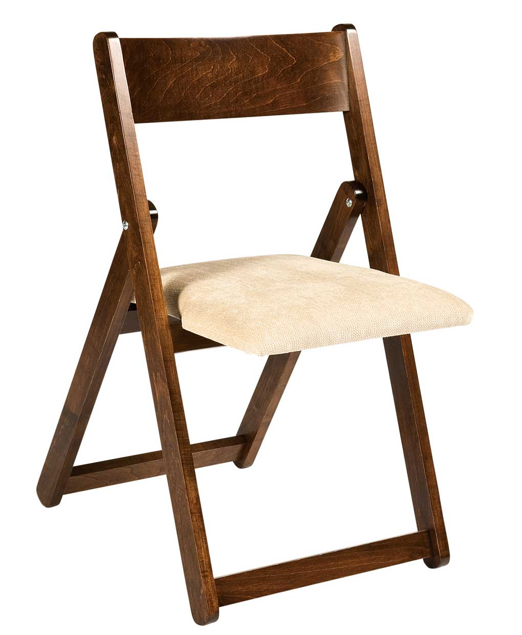 Folding dining chair amish direct furniture for Informal dining chairs