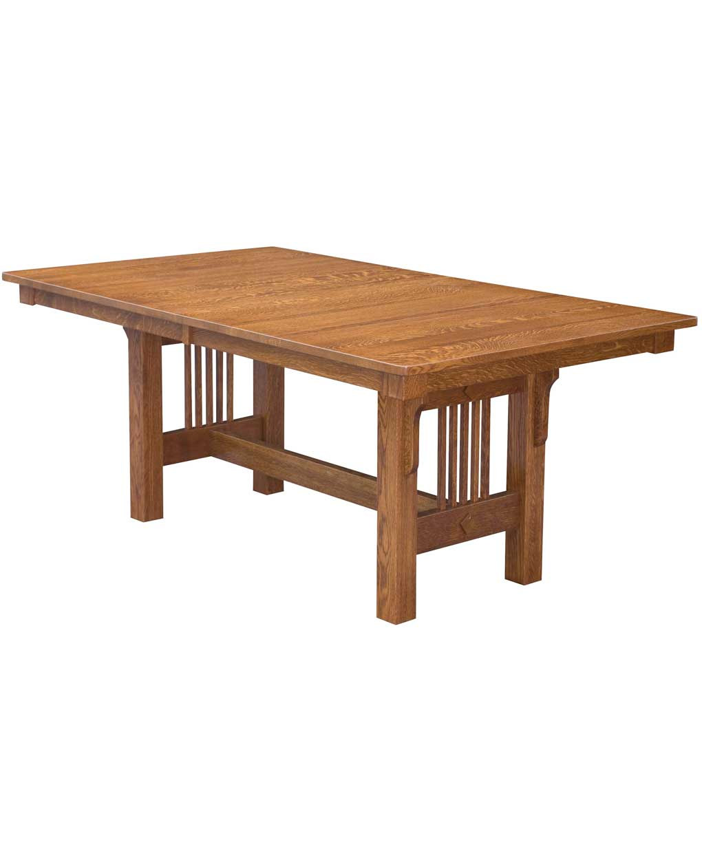Trestle mission dining table amish direct furniture for Mission style dining table