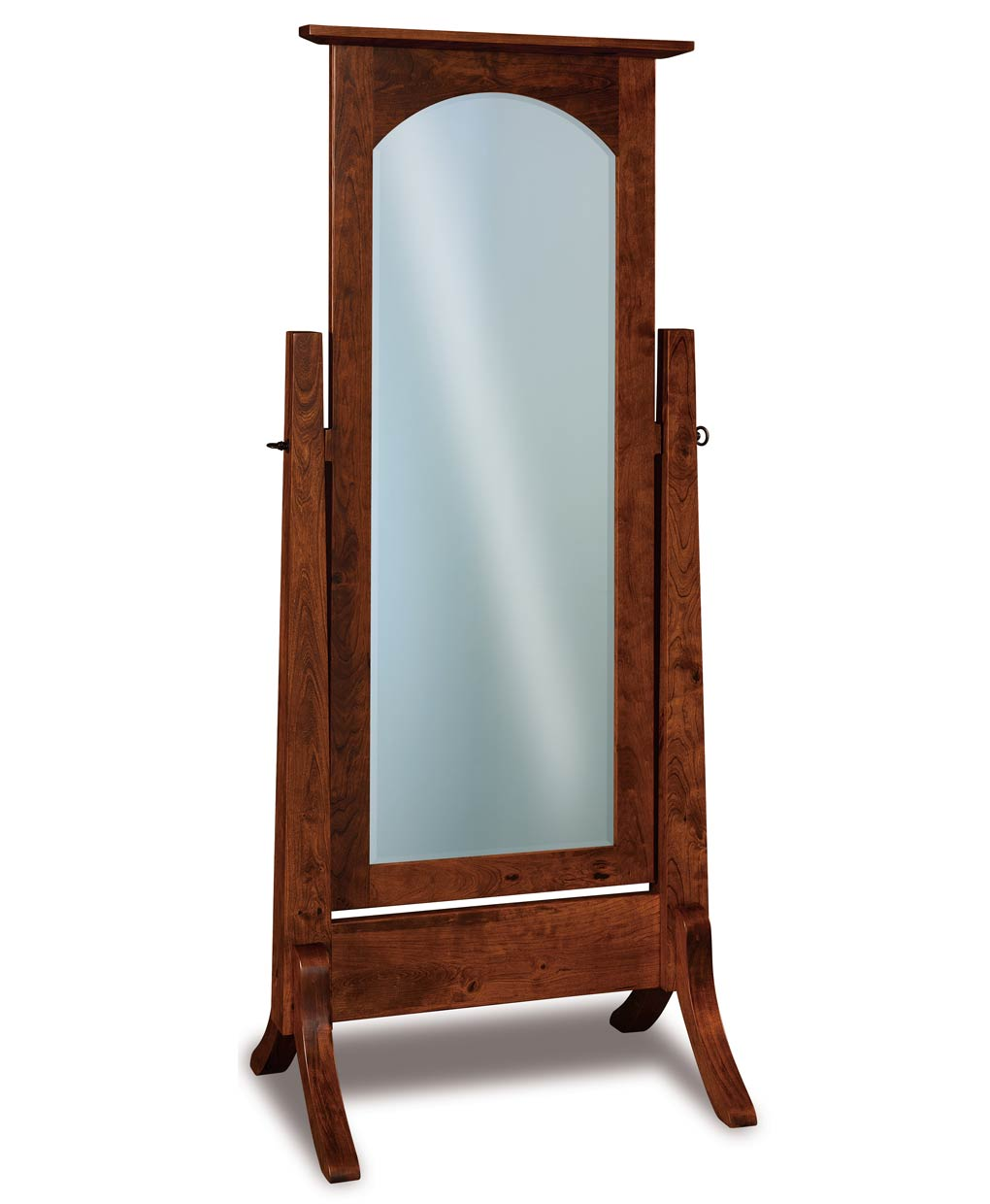 Artesa cheval mirror amish direct furniture for Cheval mirror