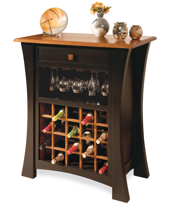 arts and crafts wine cabinet amish direct furniture. Black Bedroom Furniture Sets. Home Design Ideas
