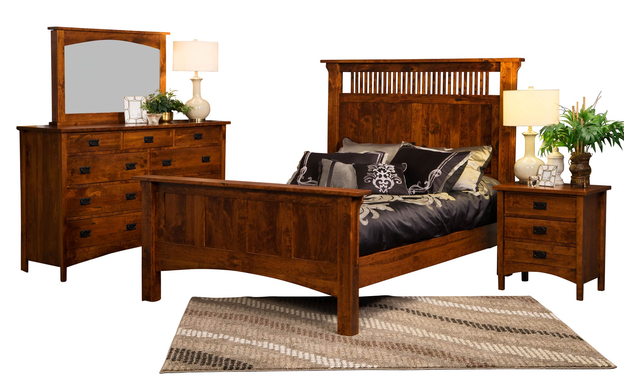 Arts and crafts dresser amish direct furniture for Arts and crafts bedroom