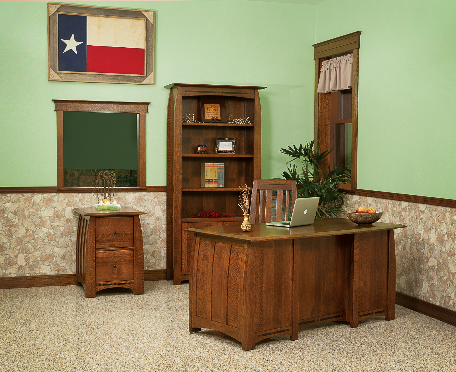 Boulder Creek Open Bookcase Amish Direct Furniture