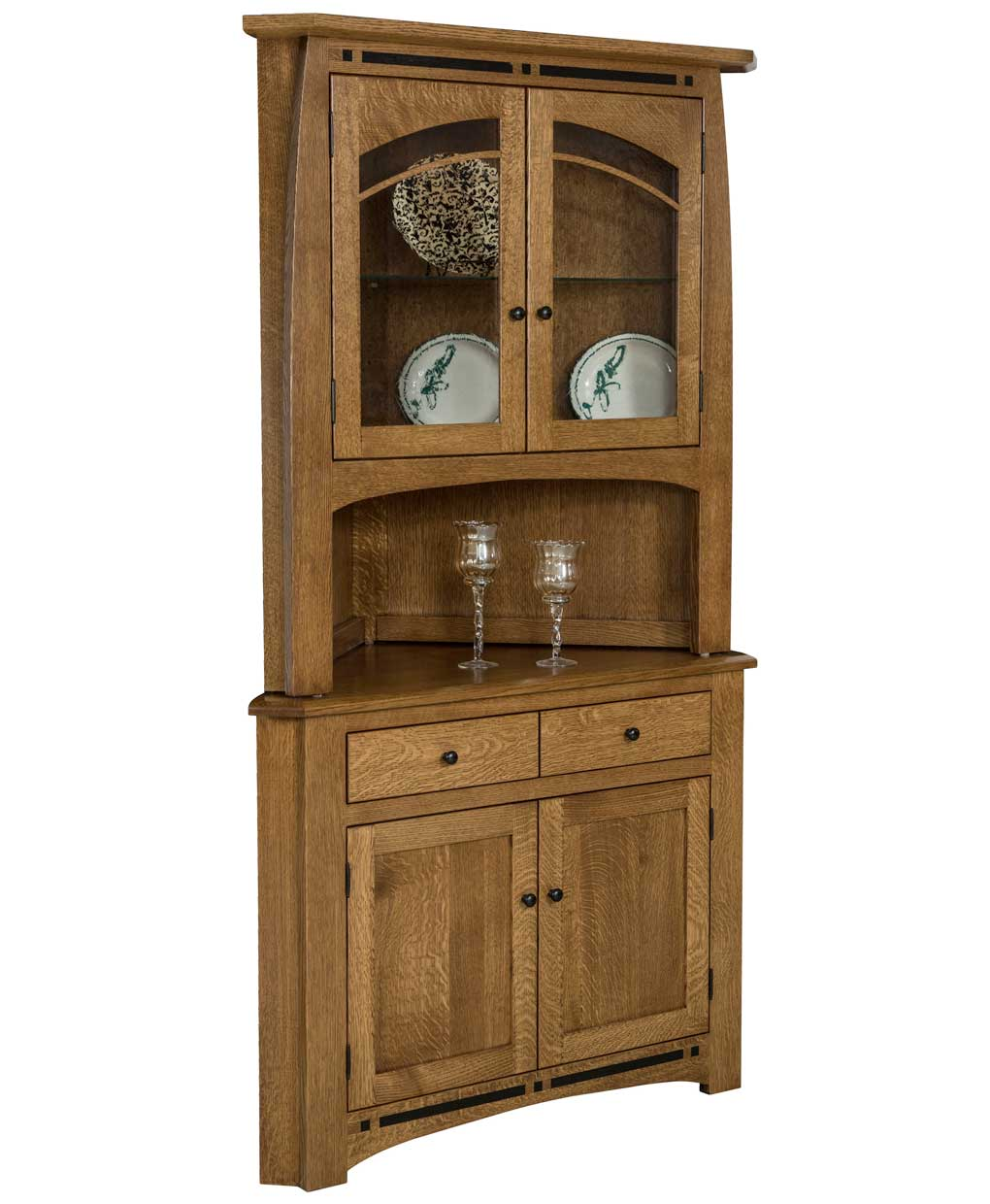 Boulder Creek Corner Hutch on Amish Made Bedroom Furniture