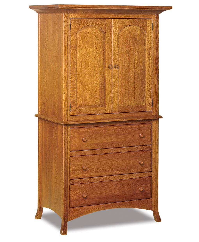 Carlisle 2 Piece 3 Drawer Armoire Amish Direct Furniture