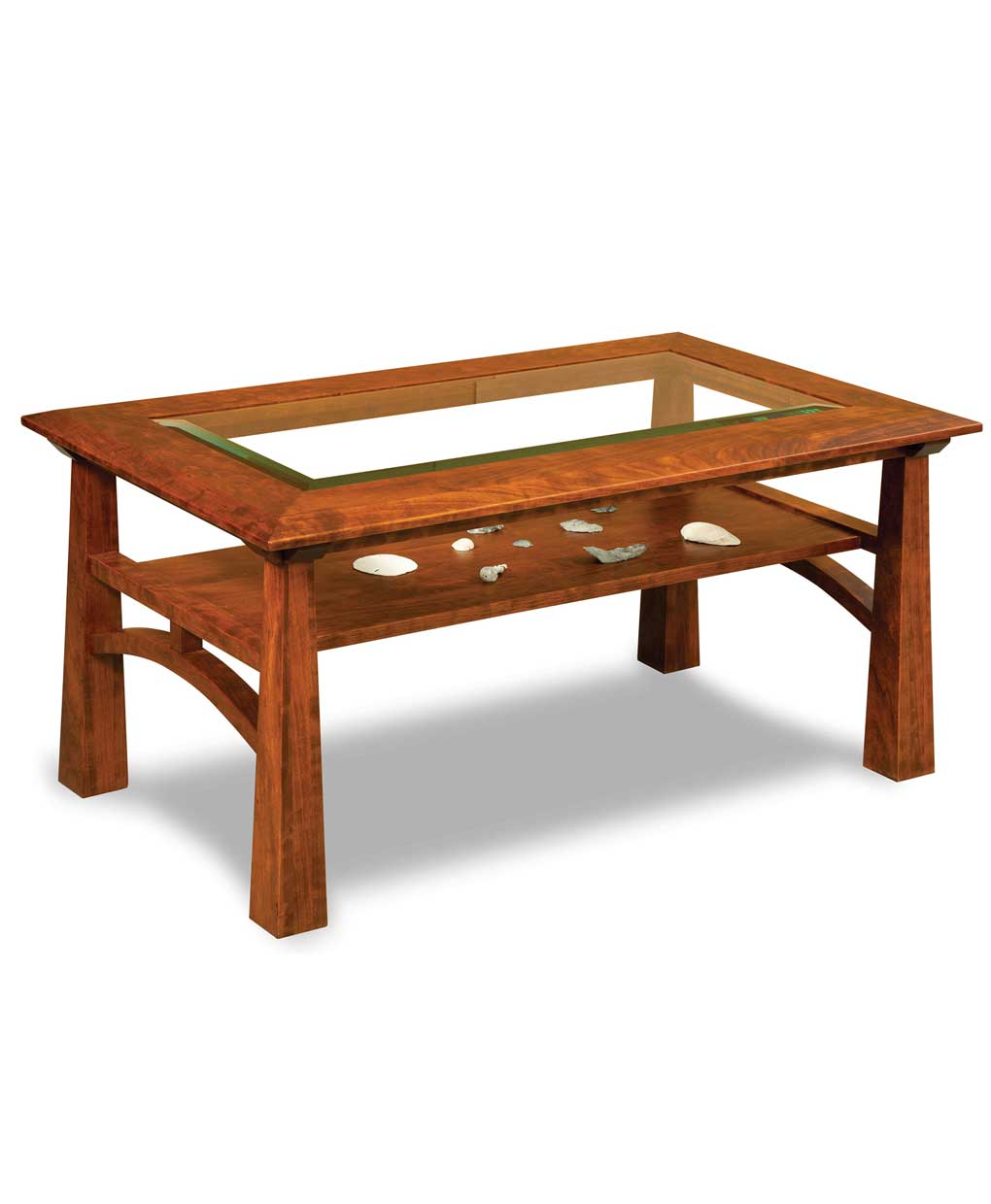 Artesa Glass Top Coffee Table Amish Direct Furniture