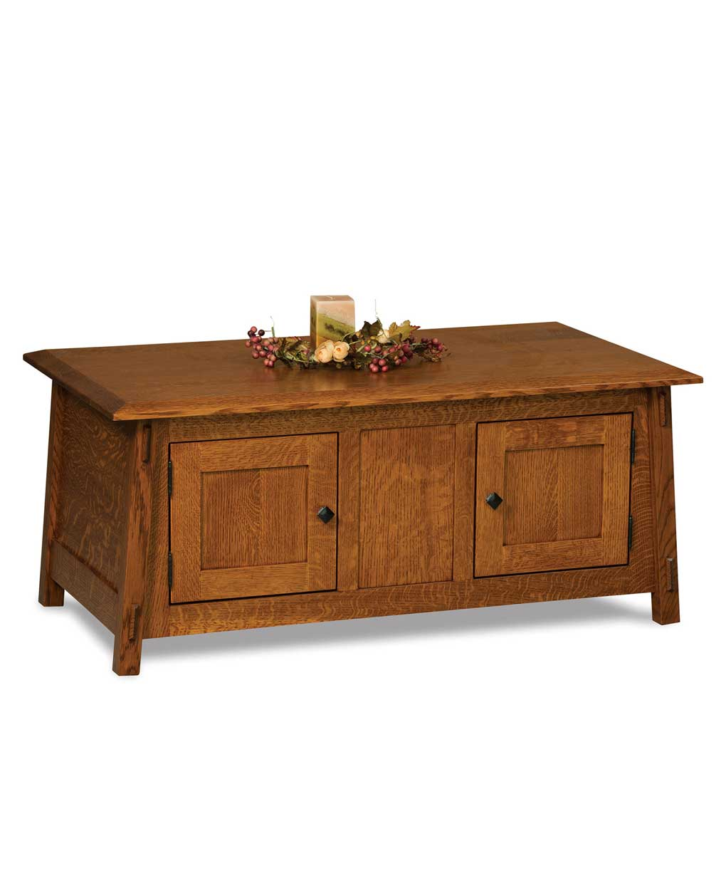 Colbran enclosed coffee table amish direct furniture for Amish furniture