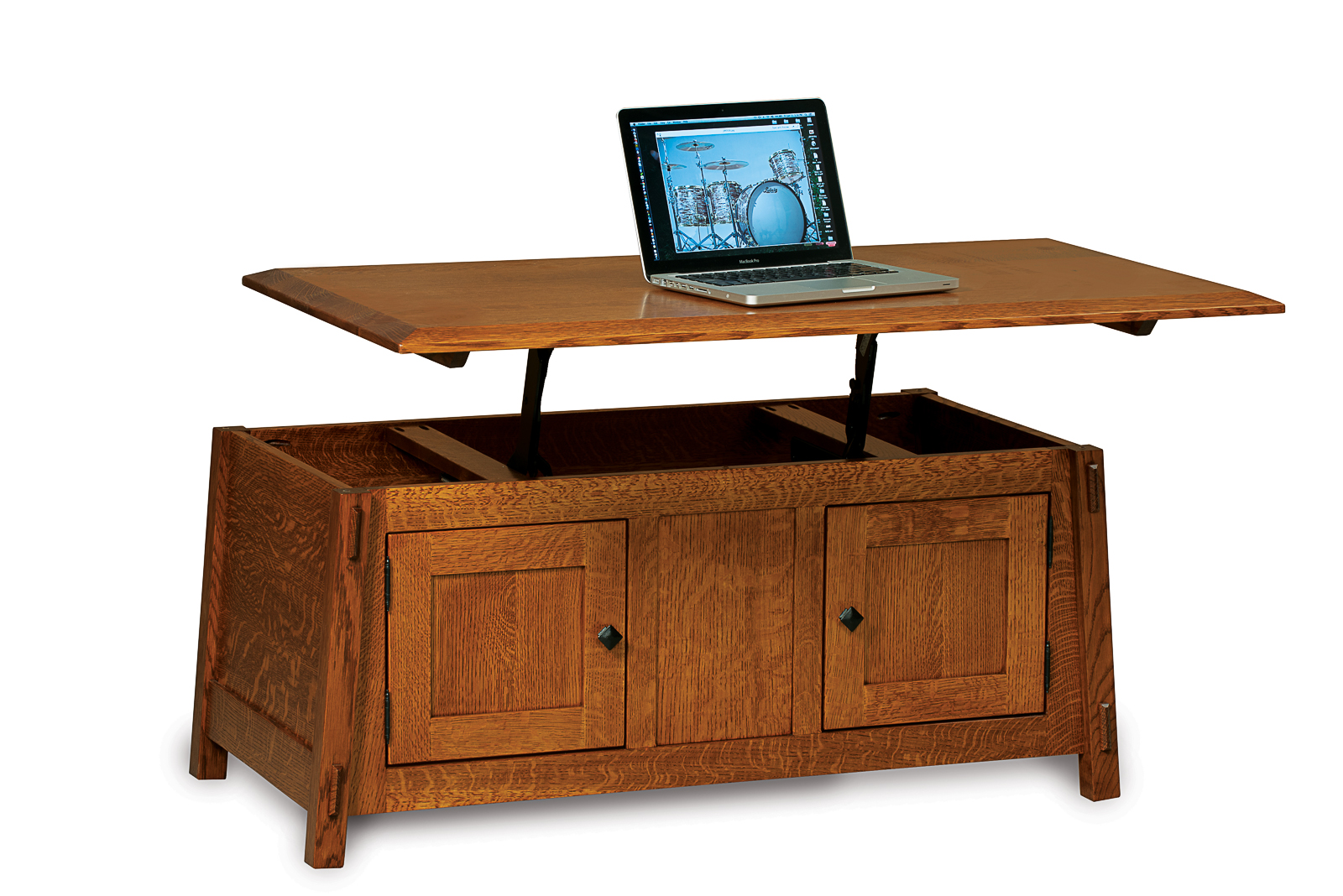 Colbran Enclosed Coffee Table With Lift Top Amish Direct Furniture