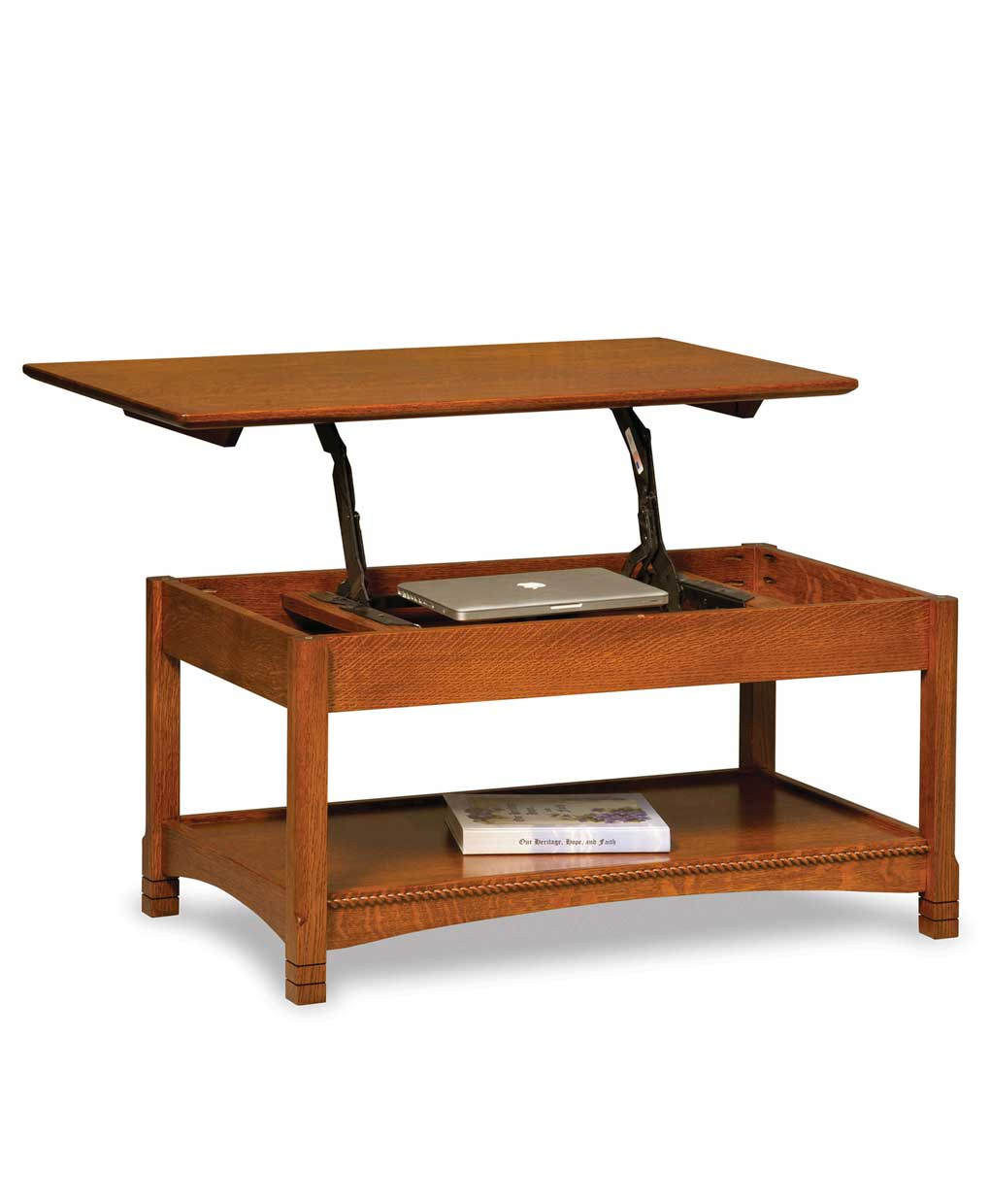 West Lake Open Coffee Table With Lift Top Amish Direct Furniture