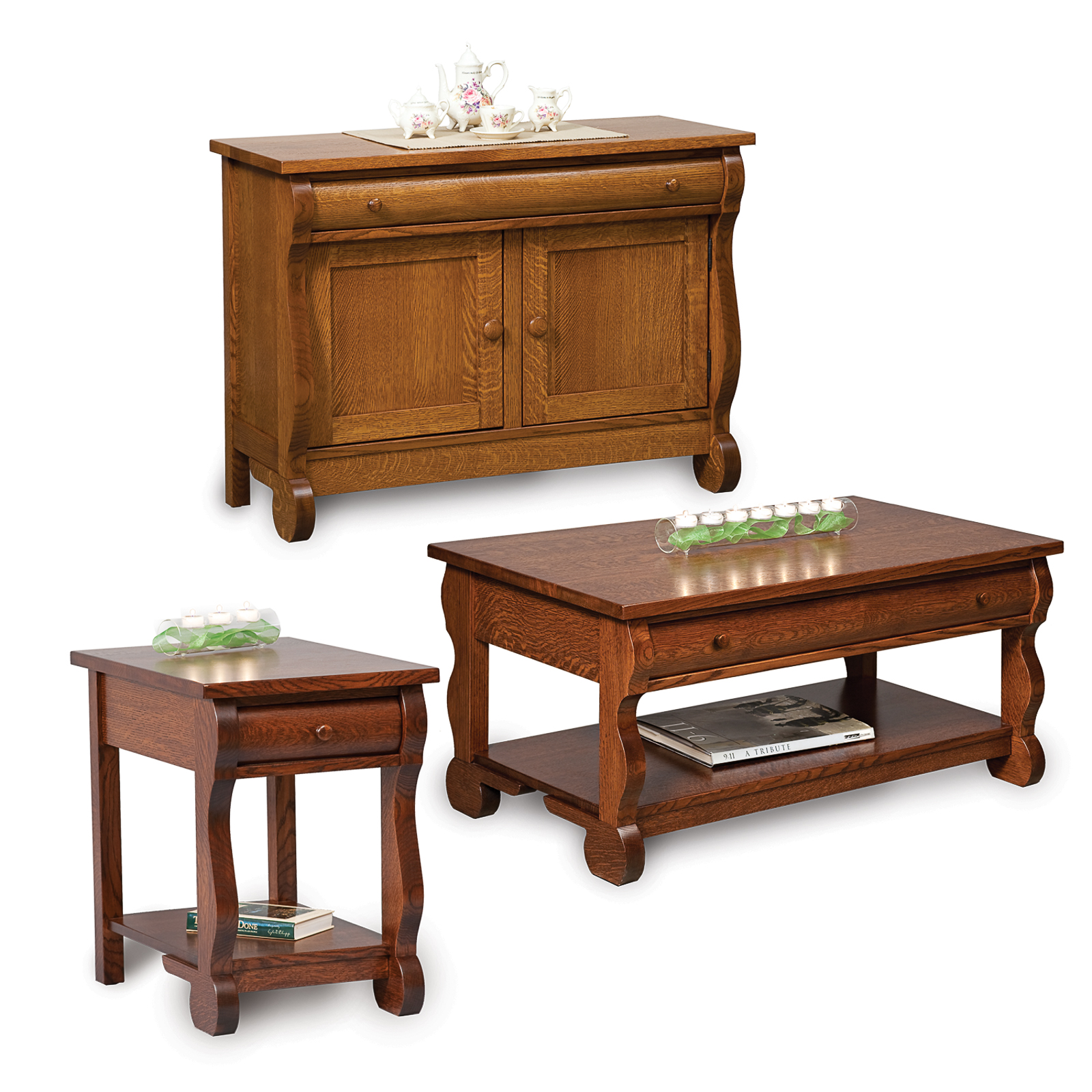 Amish Direct Furniture: Old Classic Sleigh Open End Table