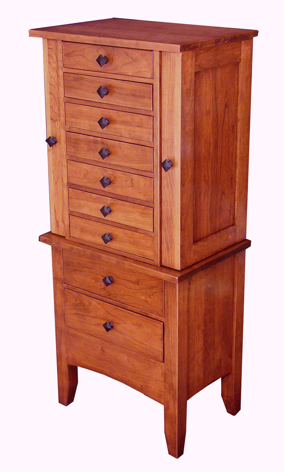 jewelry mission armoire amish direct furniture. Black Bedroom Furniture Sets. Home Design Ideas