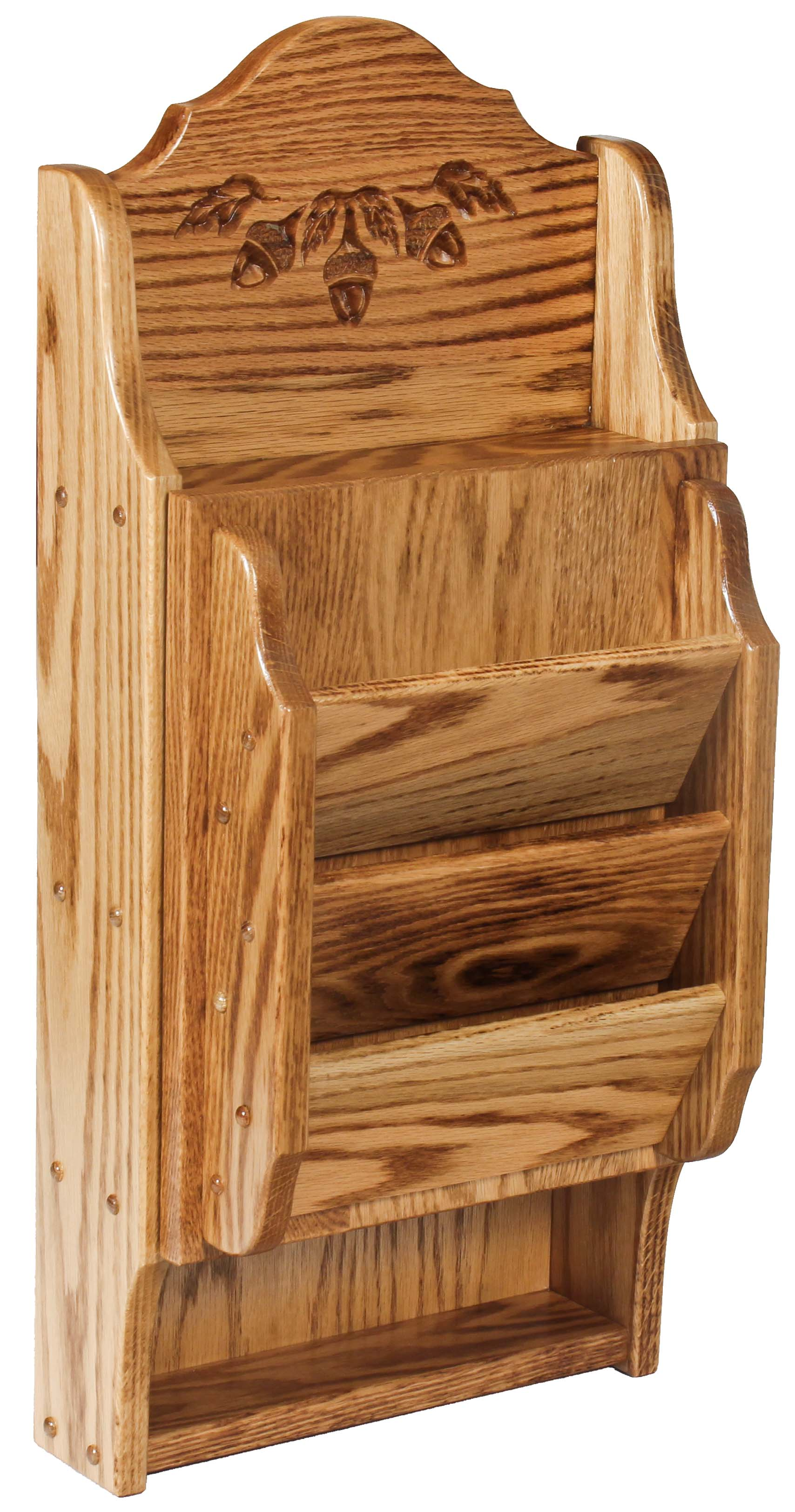 Letter Holder Key Cabinet Acorn Oak Amish Direct Furniture