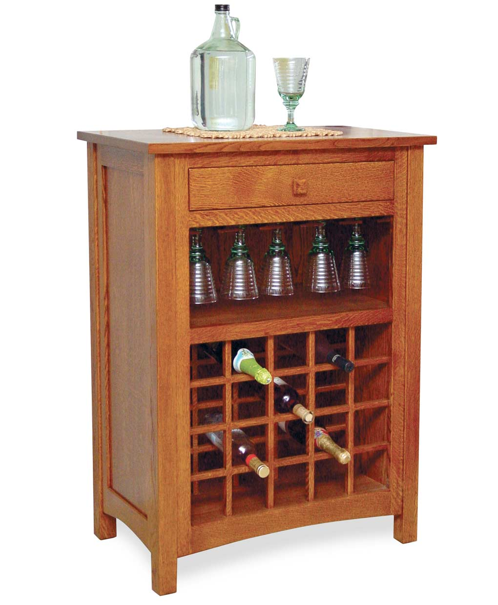 Noble Wine Cabinet Amish Direct Furniture