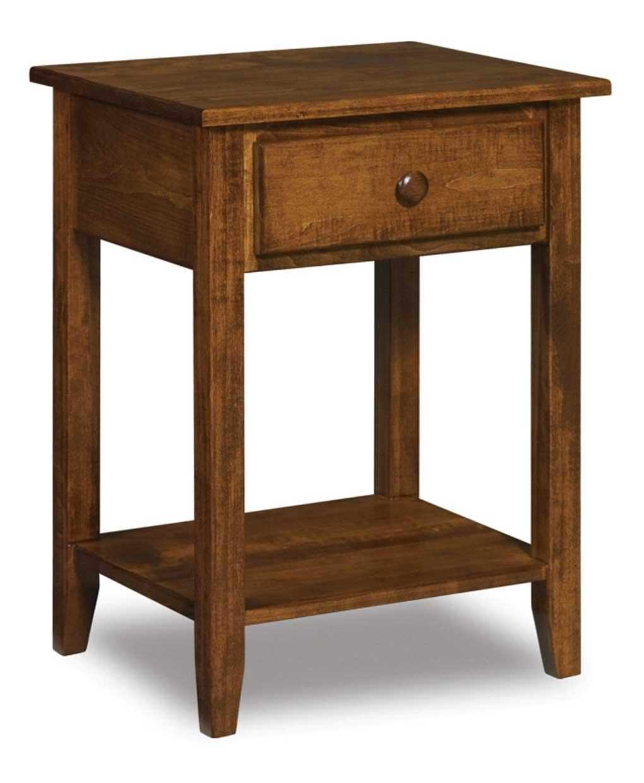 Shaker 1 Drawer Open Nightstand Amish Direct Furniture