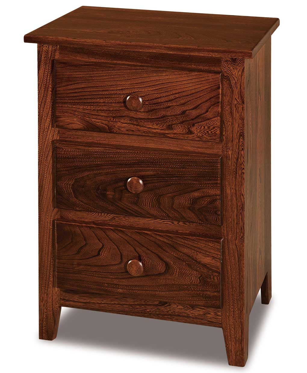 Shaker Narrow 3 Drawer Nightstand Amish Direct Furniture