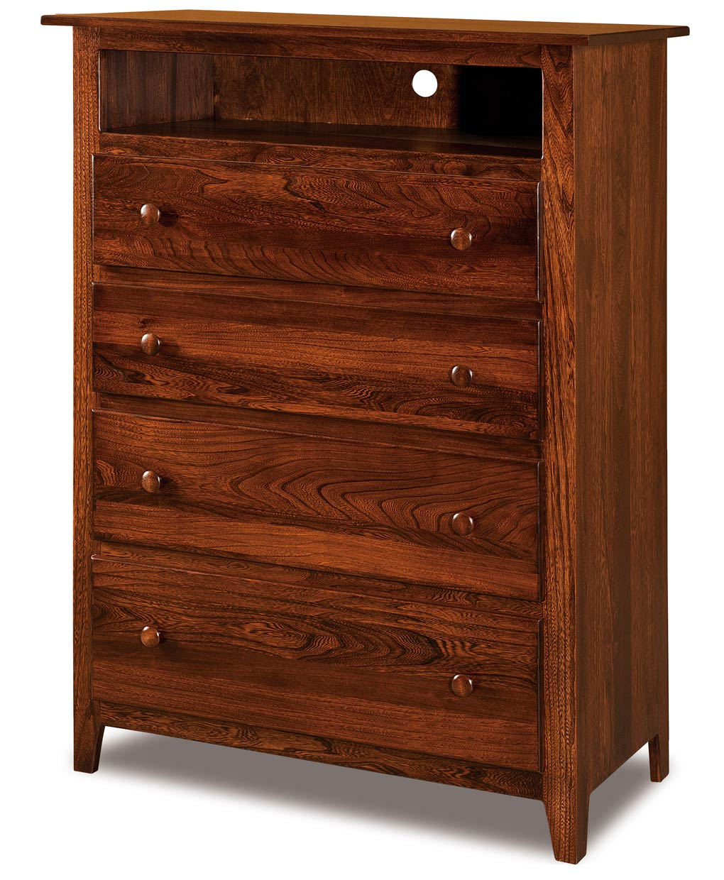 shaker 4 drawer media chest amish direct furniture. Black Bedroom Furniture Sets. Home Design Ideas