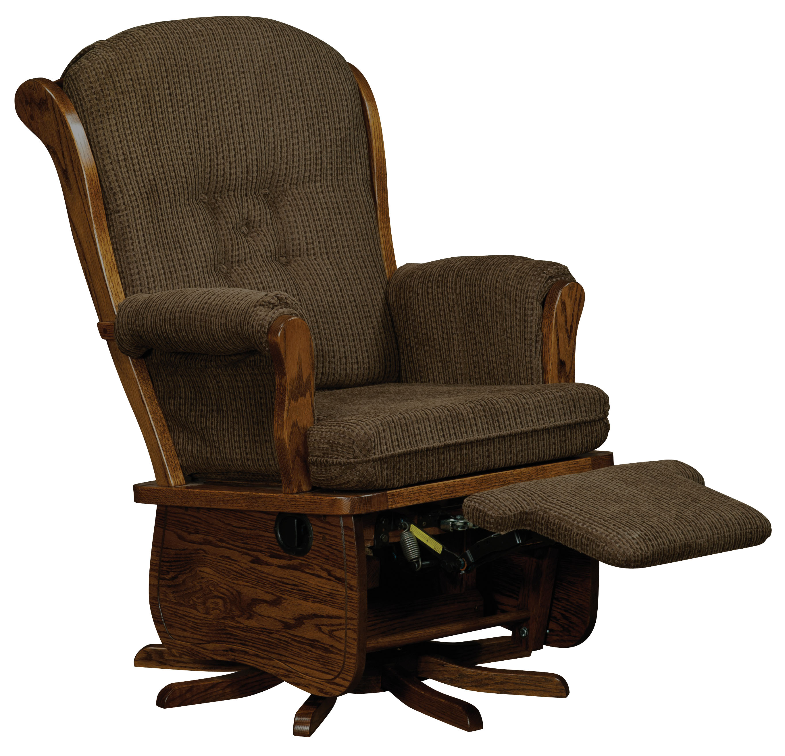 swanback swivel glider amish direct furniture. Black Bedroom Furniture Sets. Home Design Ideas