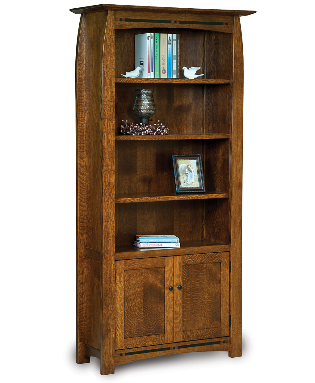 Boulder Creek Bookcase With Doors Amish Direct Furniture