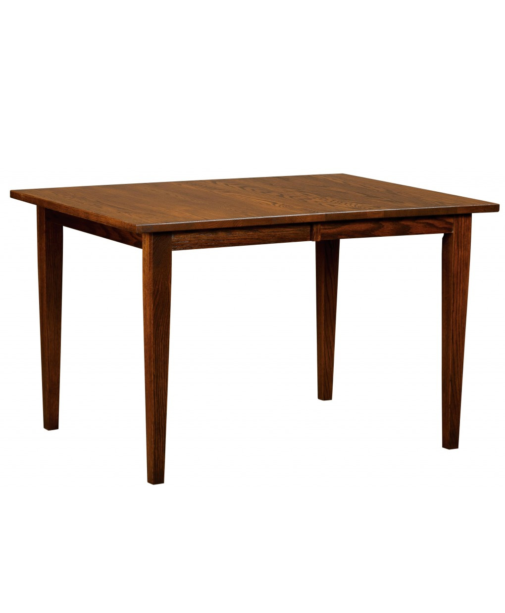 Dover leg table amish direct furniture for Single leg dining table