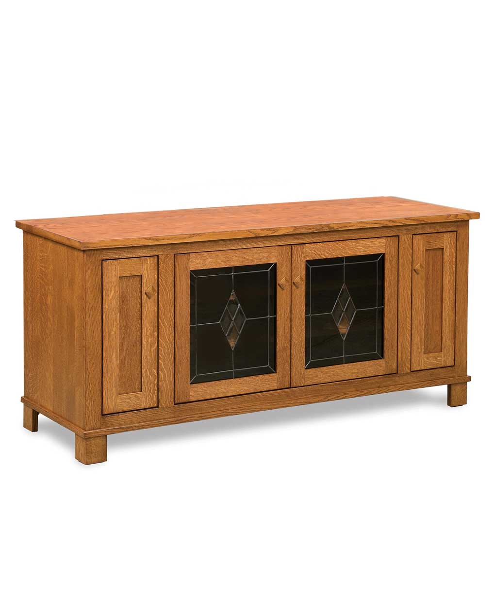 Mission media tv stand with front media storage amish for Media and tv storage furniture