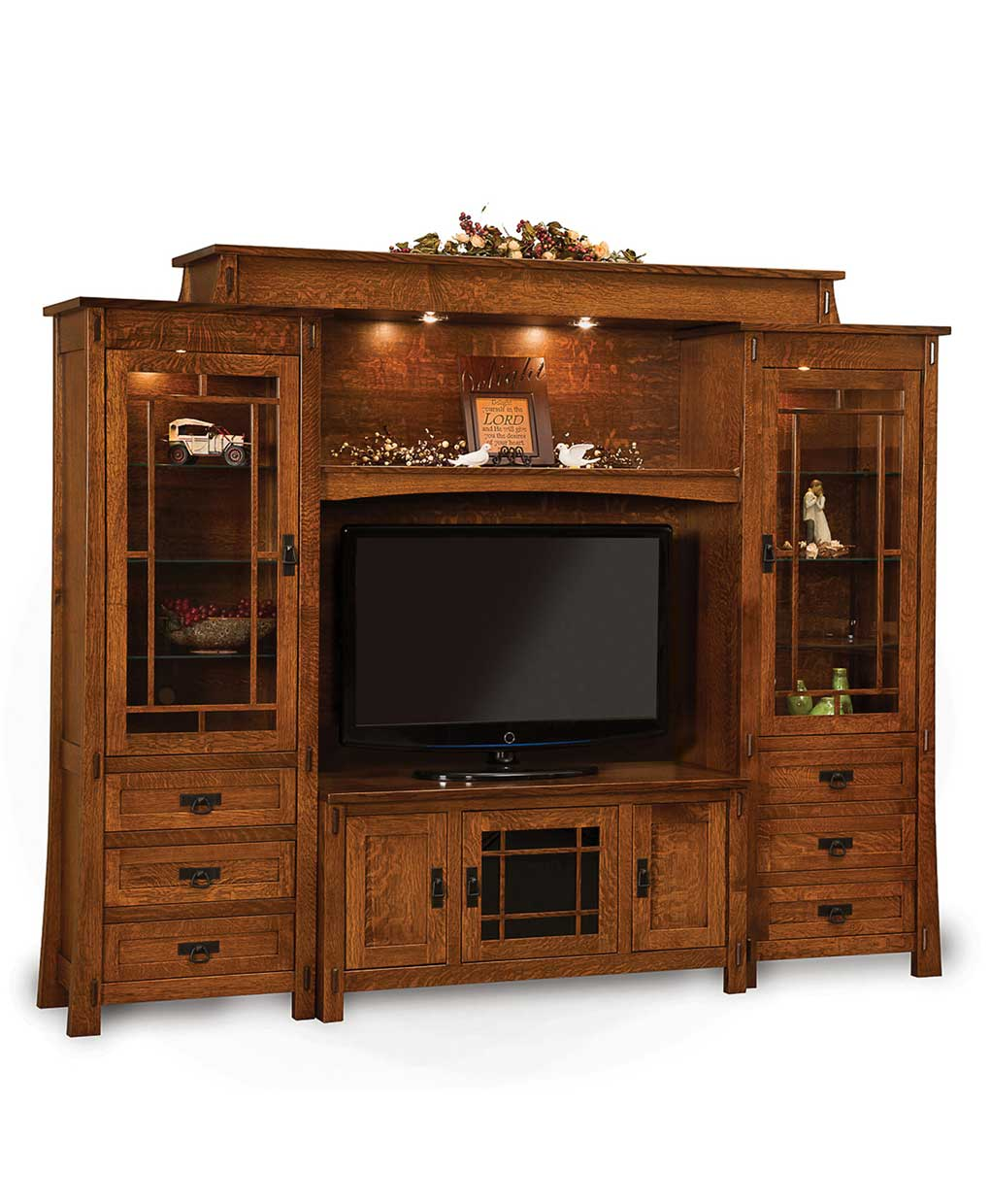 Modesto 6 Piece Wall Unit Amish Direct Furniture