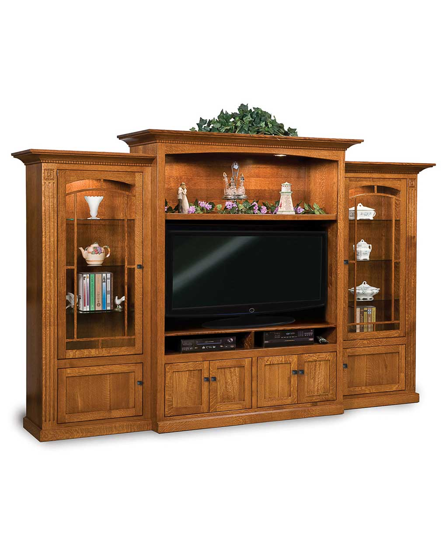 manhattan mission 3 piece wall unit amish direct furniture. Black Bedroom Furniture Sets. Home Design Ideas