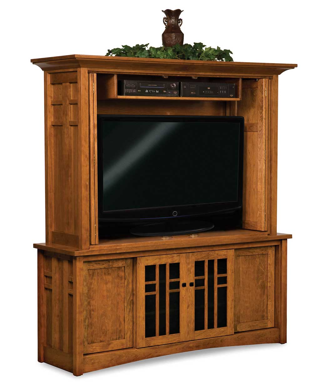 Media Cabinets Furniture: Kascade Media TV Cabinet With Bi-Fold Doors
