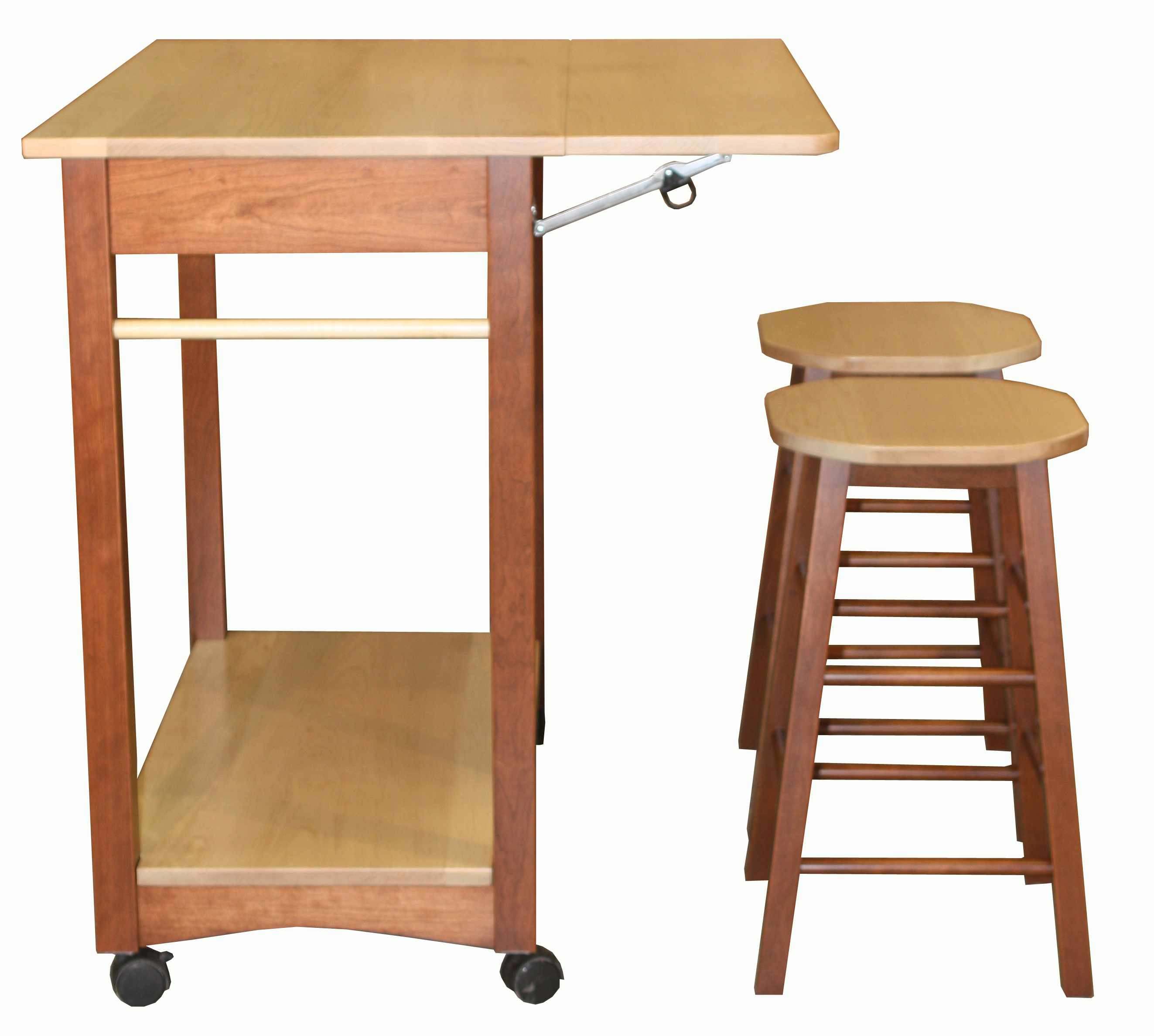 Guest Server with Bar Stools Amish Direct Furniture