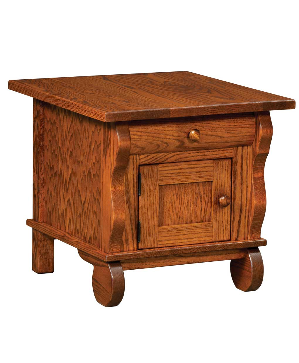 Hampton cabinet end table amish direct furniture for Sofa table cabinet