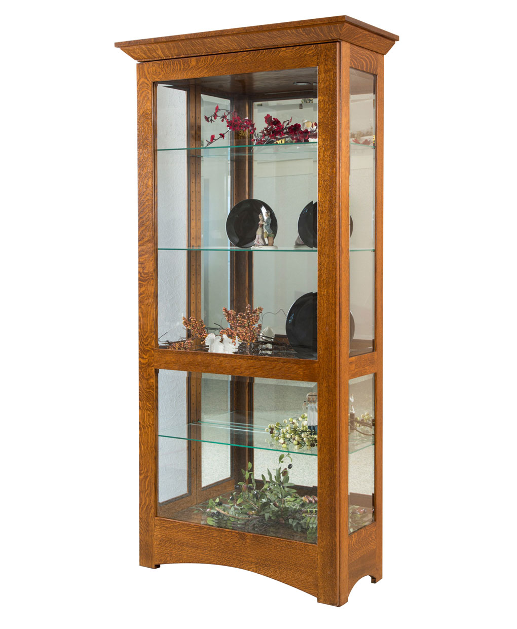 Leda Curio Cabinet Amish Direct Furniture