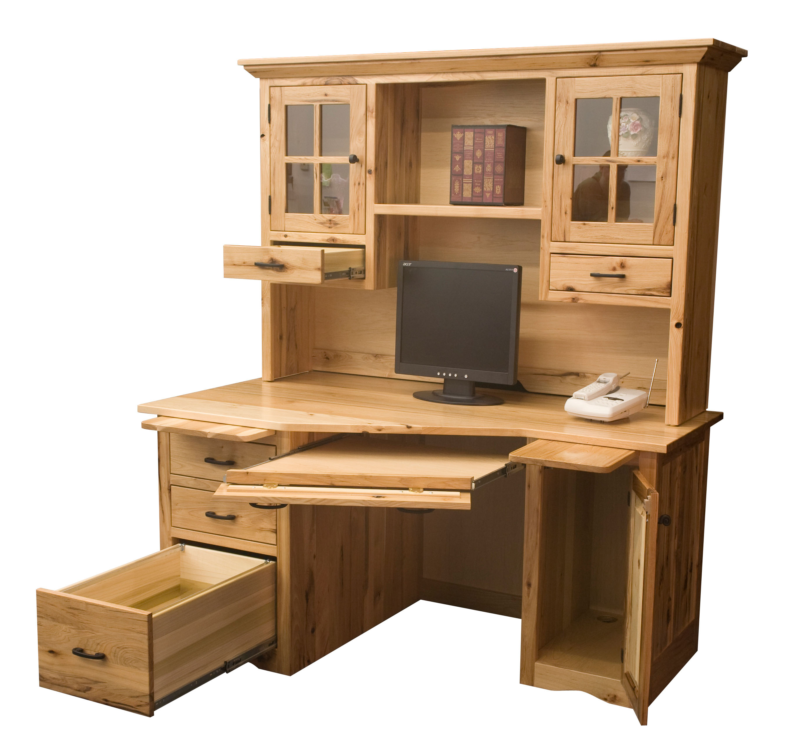 Wedge Computer Desk Amish Direct Furniture