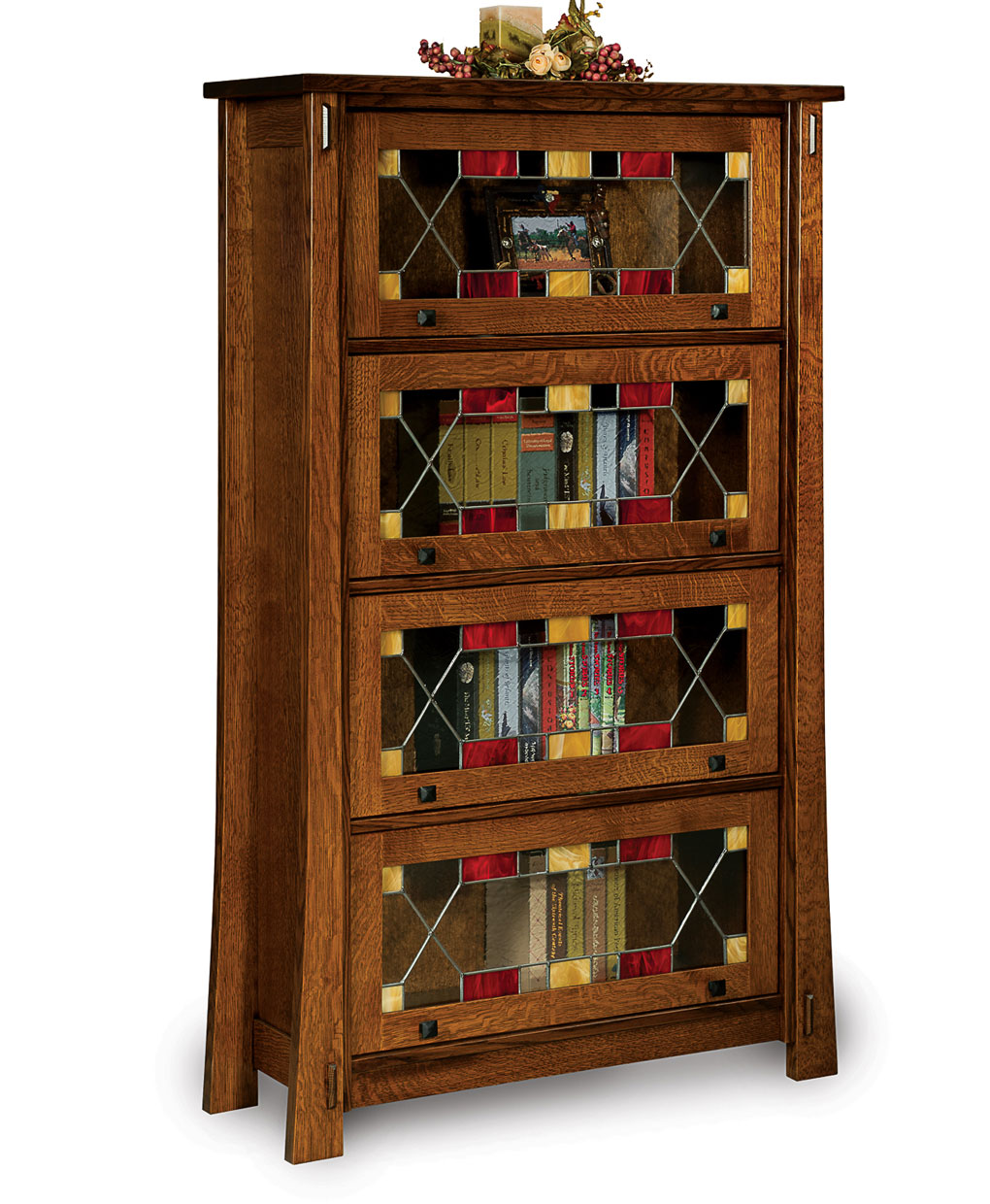 Modesto Barrister Bookcase Amish Direct Furniture