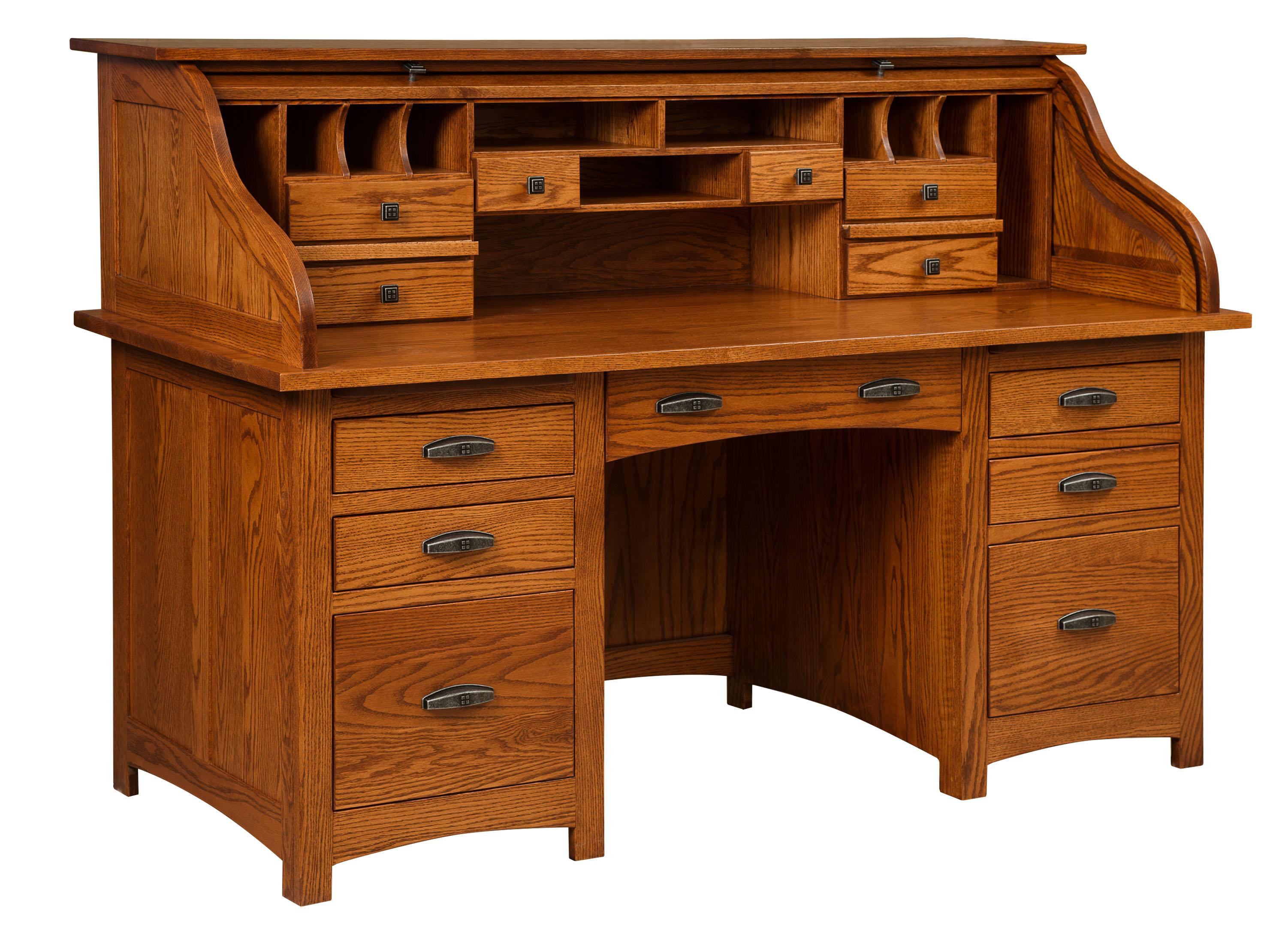 Oakwood Rolltop Desk Amish Direct Furniture