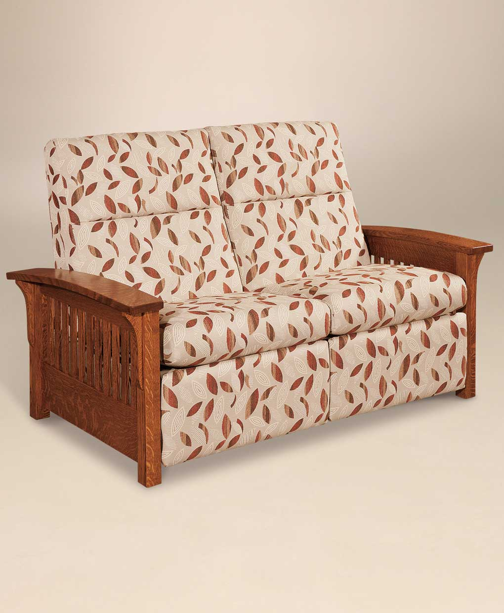 Skyline Slat Loveseat Recliner Amish Direct Furniture