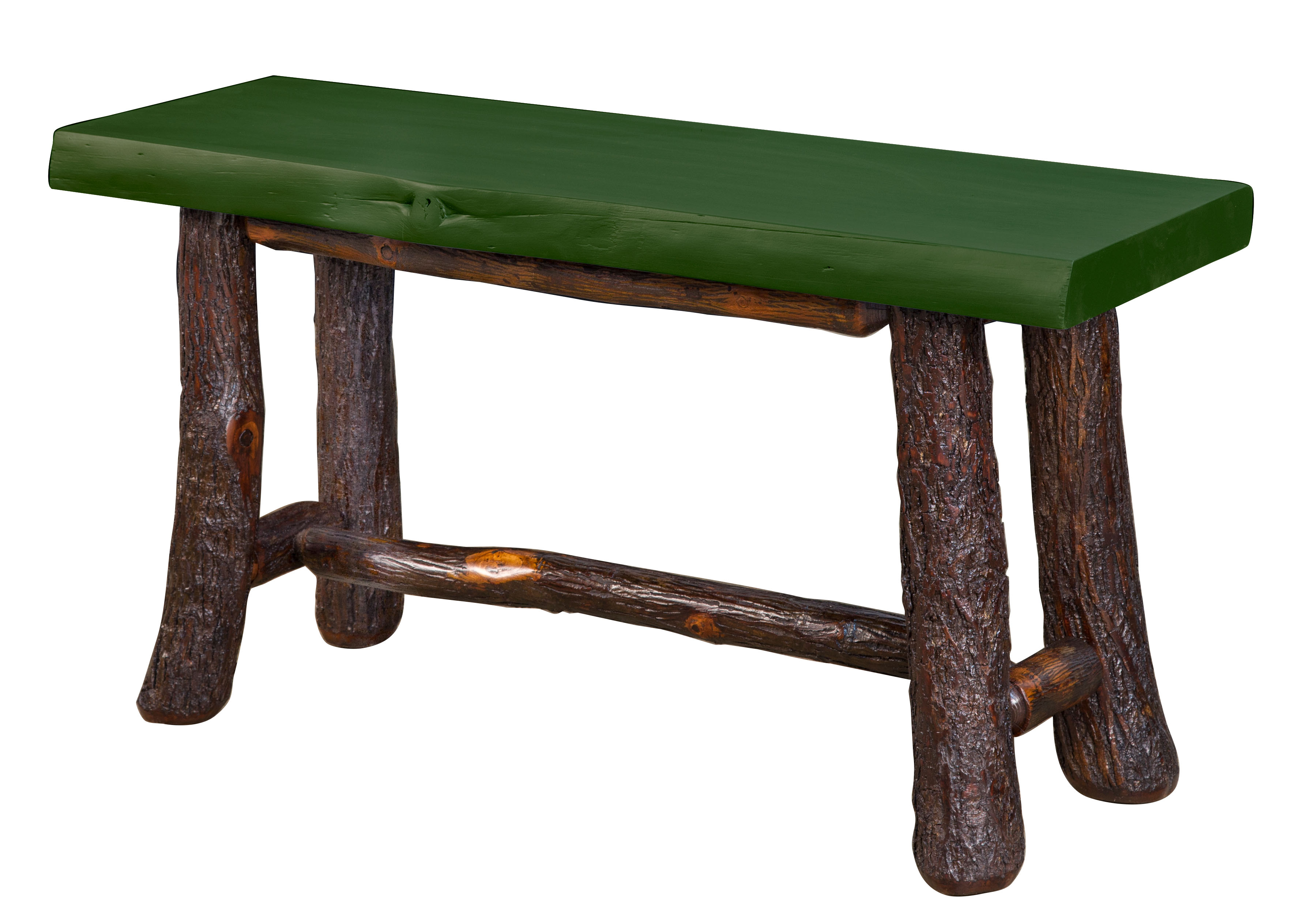 Old Classic Log Bench Amish Direct Furniture
