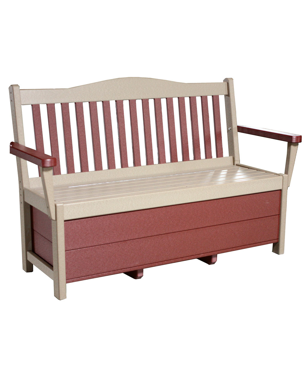 Poly Mission Bench With Storage Amish Direct Furniture