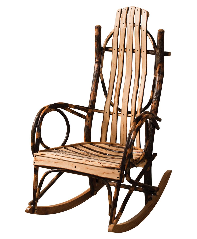 Live Edge Hickory Log Rocker Amish Direct Furniture
