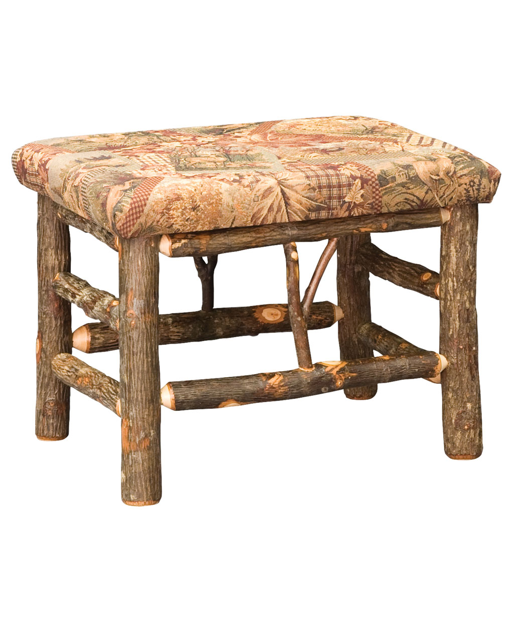 Classic Hickory Log Bench Amish Direct Furniture
