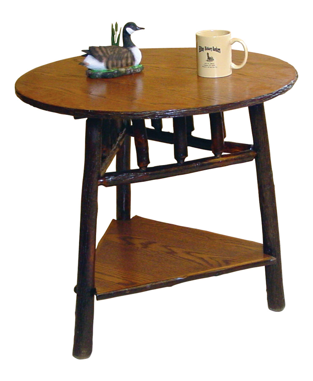 Log Side Table ~ Round log end table amish direct furniture