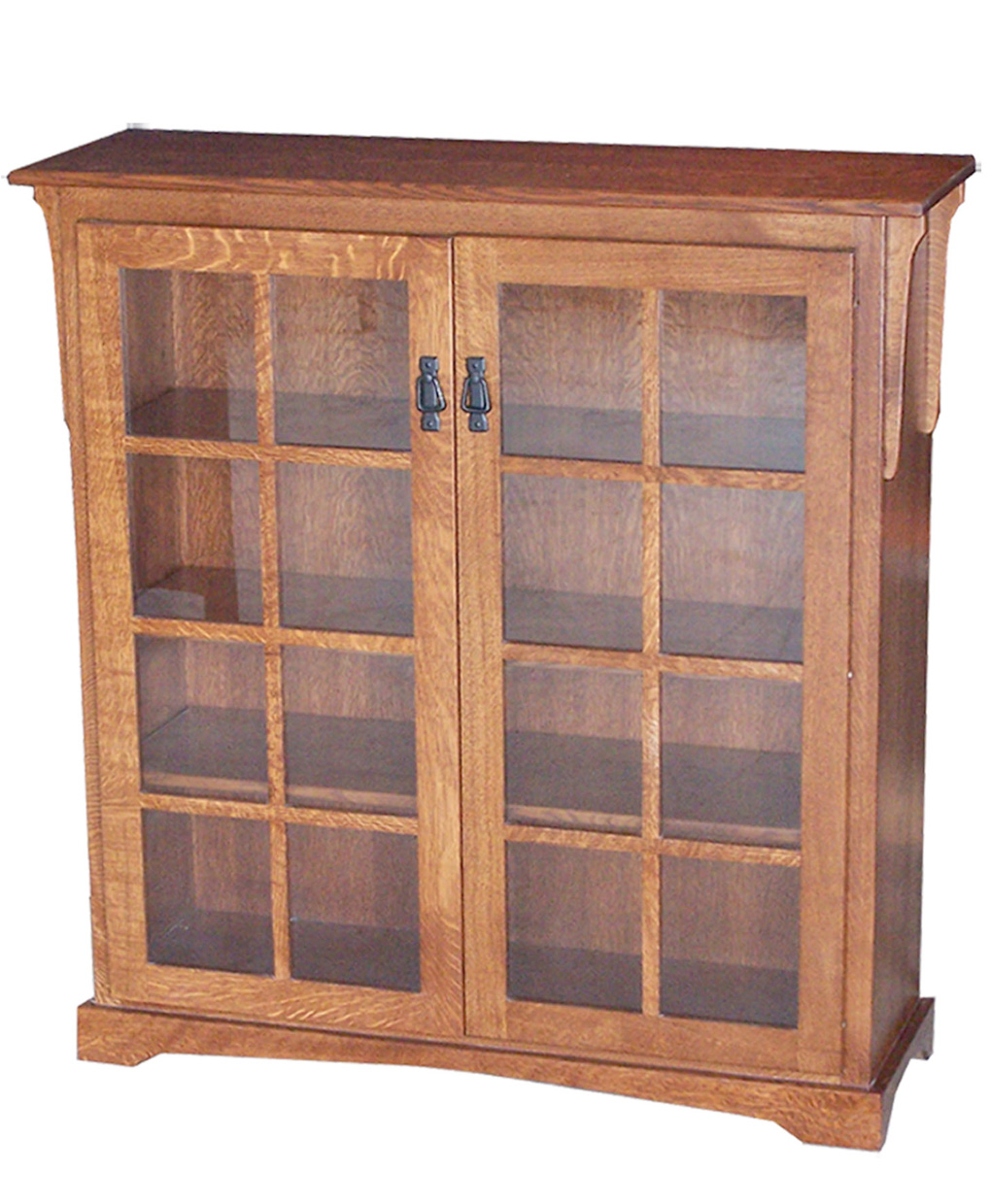 Medium Mission Bookcase With Doors Amish Direct Furniture