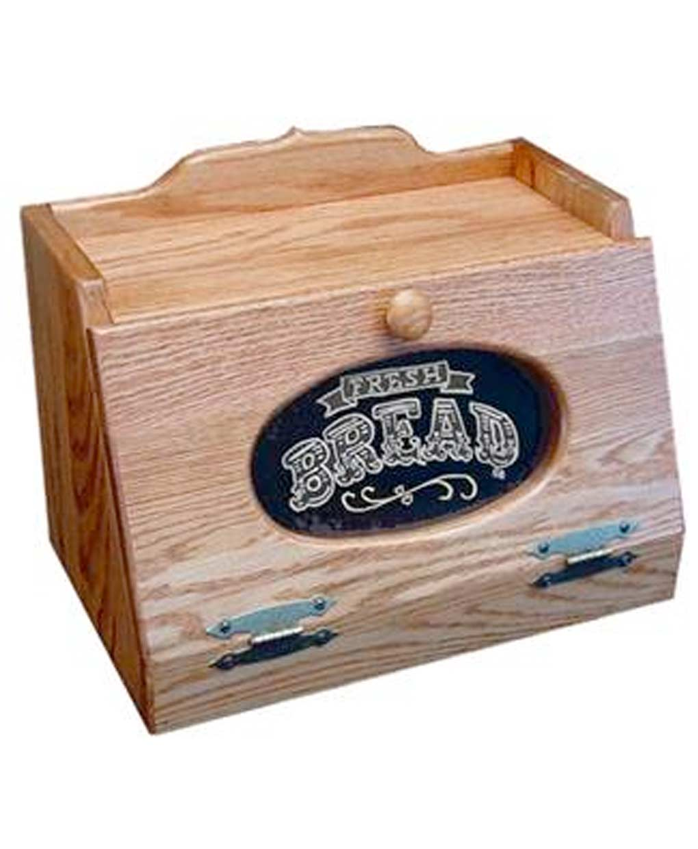 Oak Bread Box With Glass Front Amish Direct Furniture