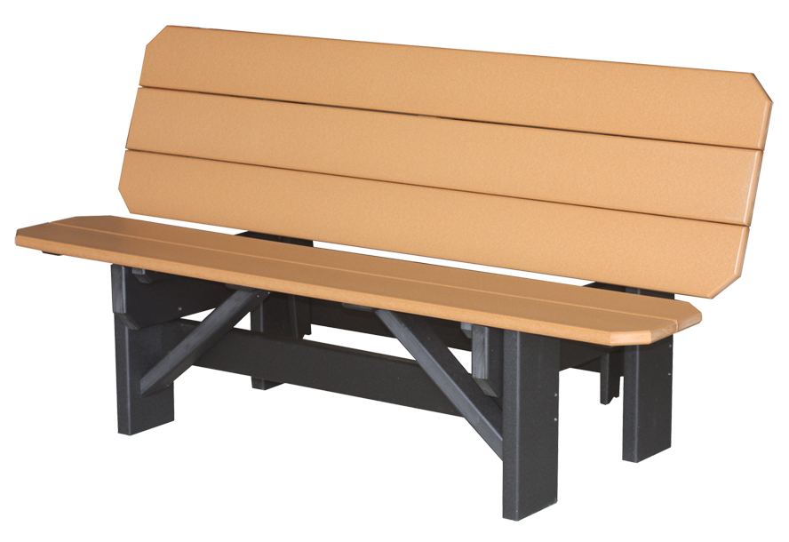 poly park bench picnic table amish direct furniture
