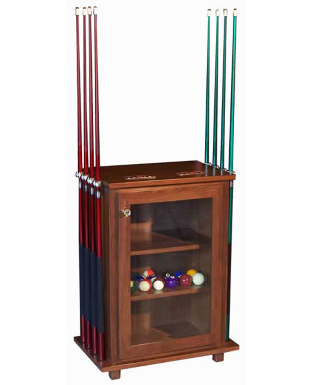 Deluxe pool table accessories cabinet amish direct furniture - Billiard table accessories ...