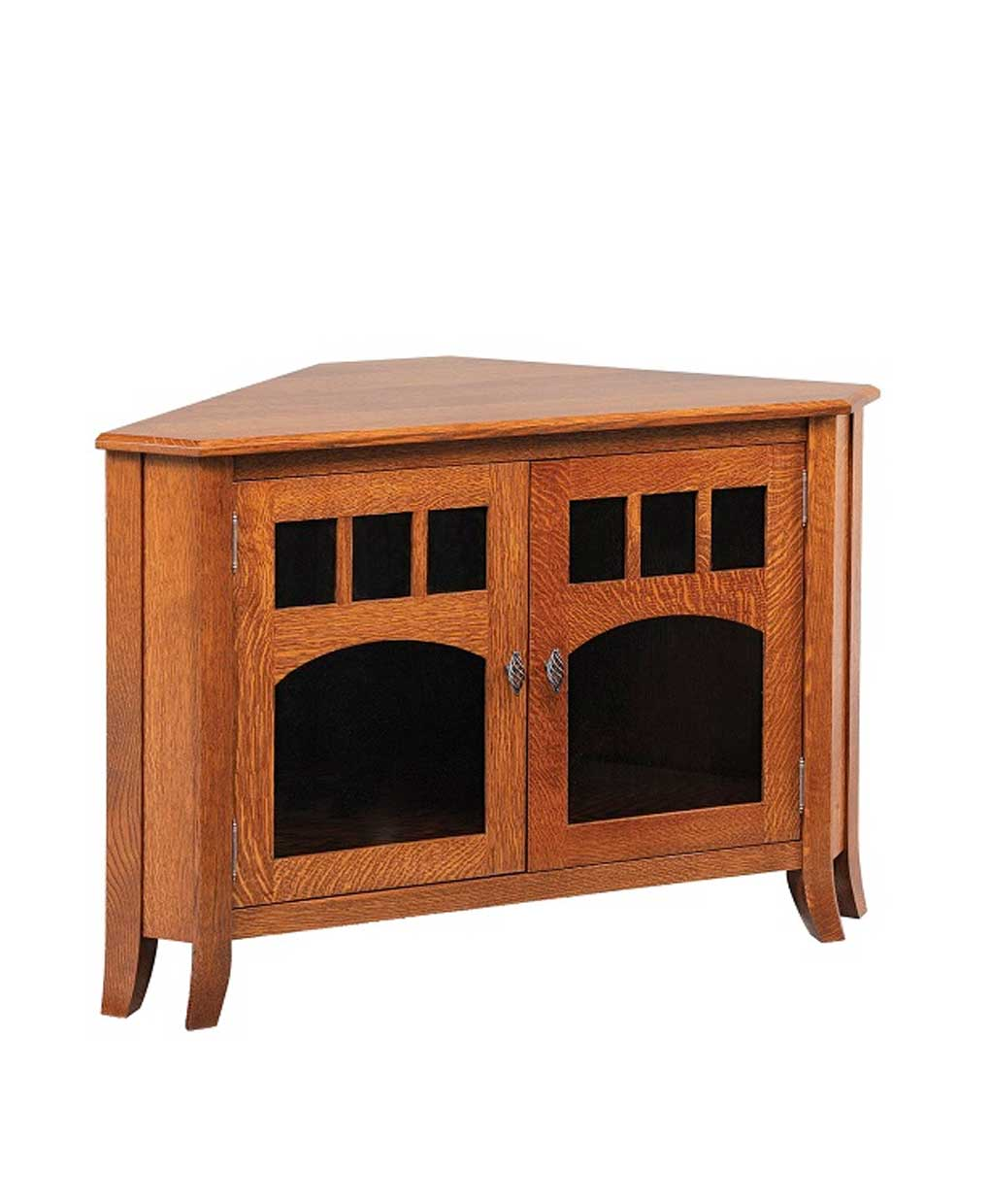 Old World Style 32 Corner Tv Stand Amish Direct Furniture