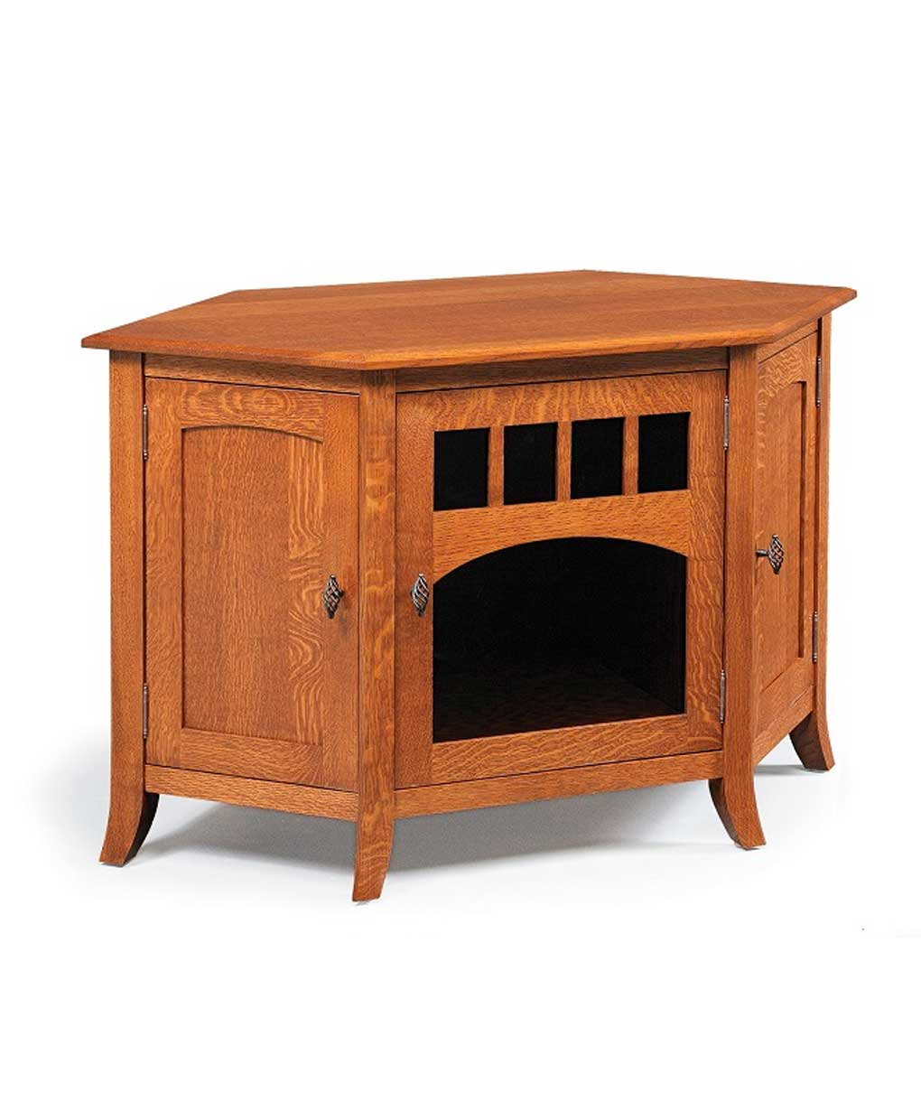 Old world style 35 corner tv stand amish direct furniture for Furniture 35